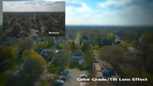 Before (inset) and after view of Port Huron Mi